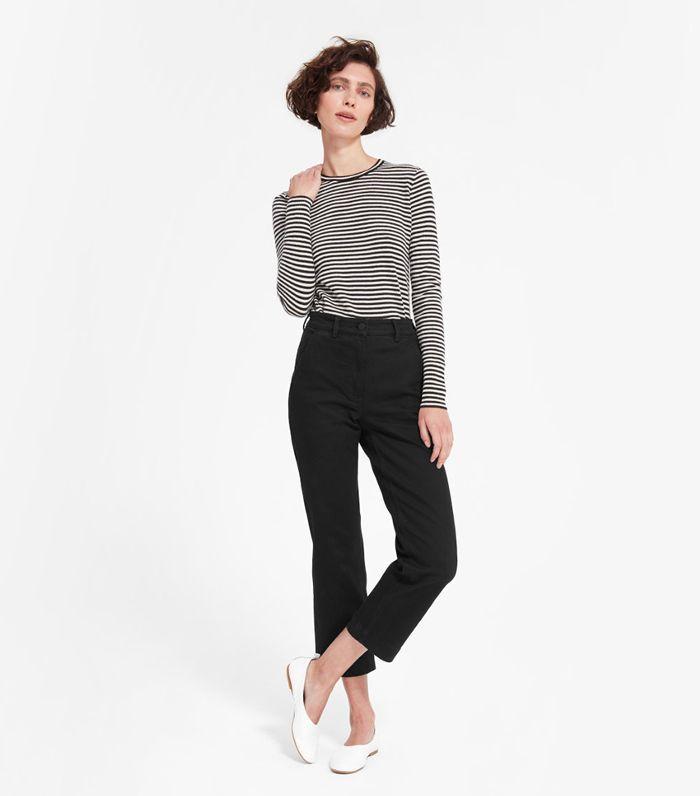 Women's Straight Leg Crop by Everlane in Black, Size 16