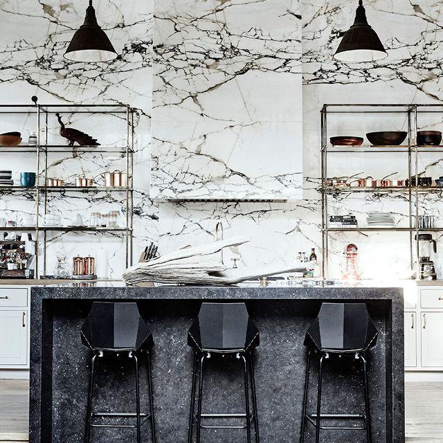 Denise Vasi—black and white kitchen