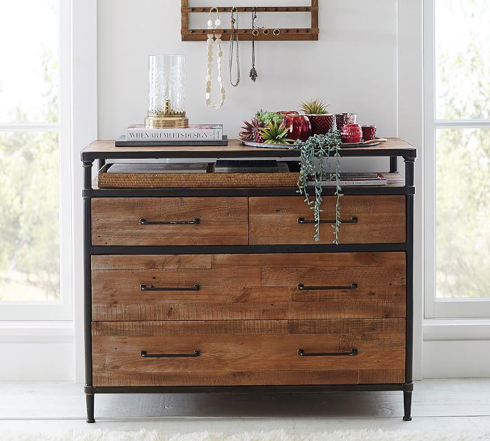 Pottery Barn Juno Reclaimed Wood 4-Drawer Dresser