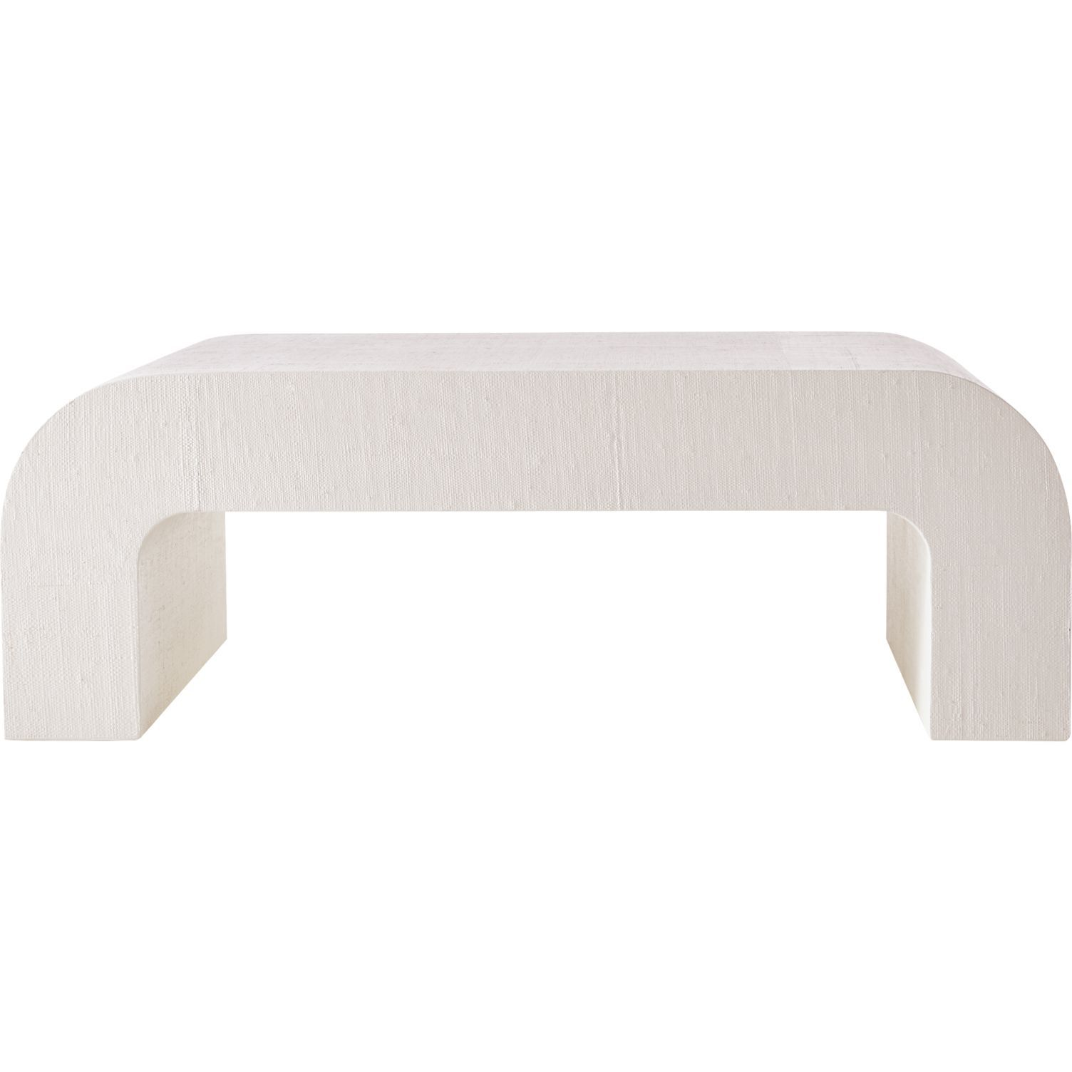 Horseshoe White Lacquered Linen Coffee Table