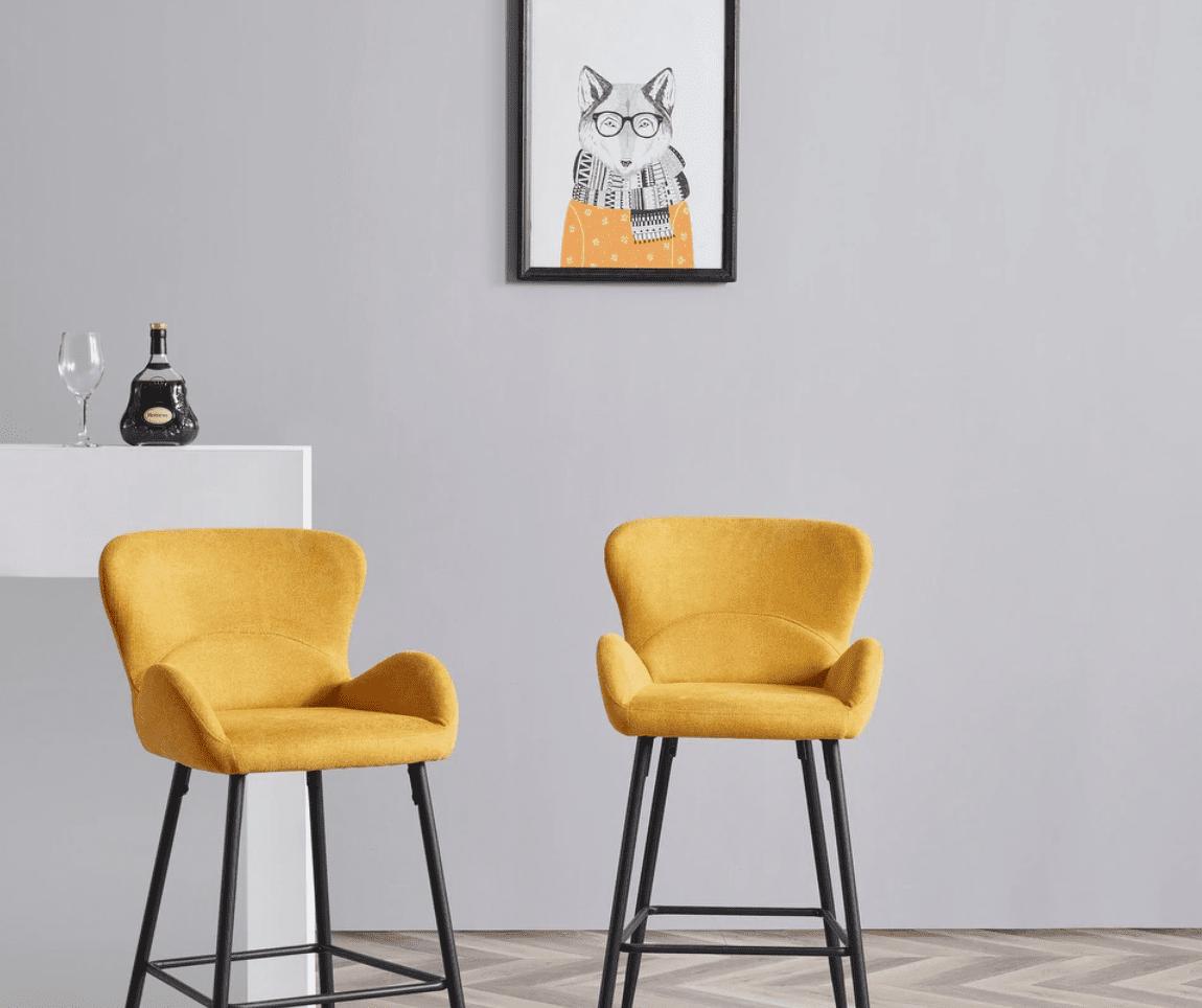 Corvus Lomax Contemporary Upholstered Bar Stools