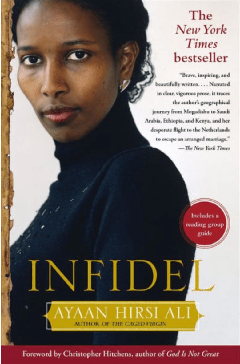 Cover of the bestselling book, Infidel