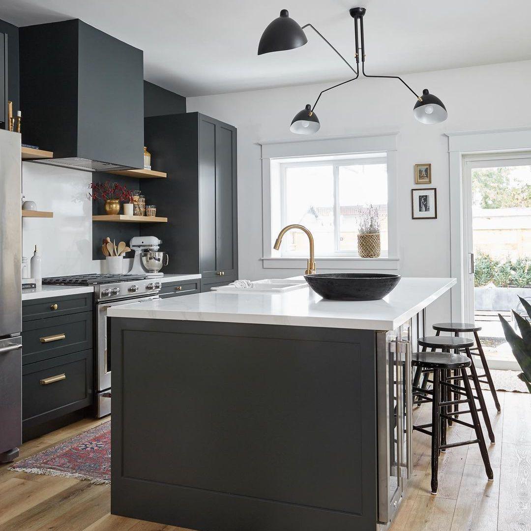 Slate blue kitchen