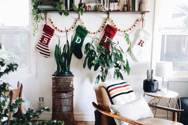 Colorful Christmas stockings.