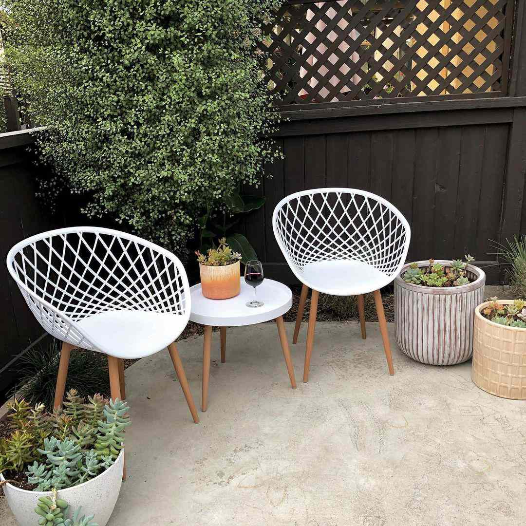 Outdoor patio with succulents