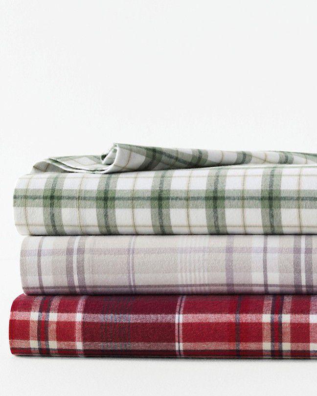 Cozy Plaid Organic-Cotton Flannel Bedding