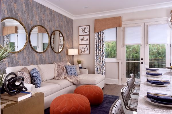 the one room I'll never forget - interior design by S&S keeping room with color and pattern