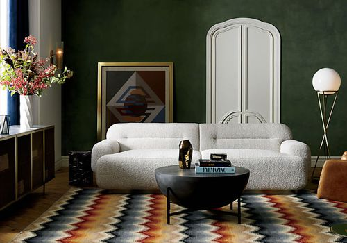 White sofa CB2