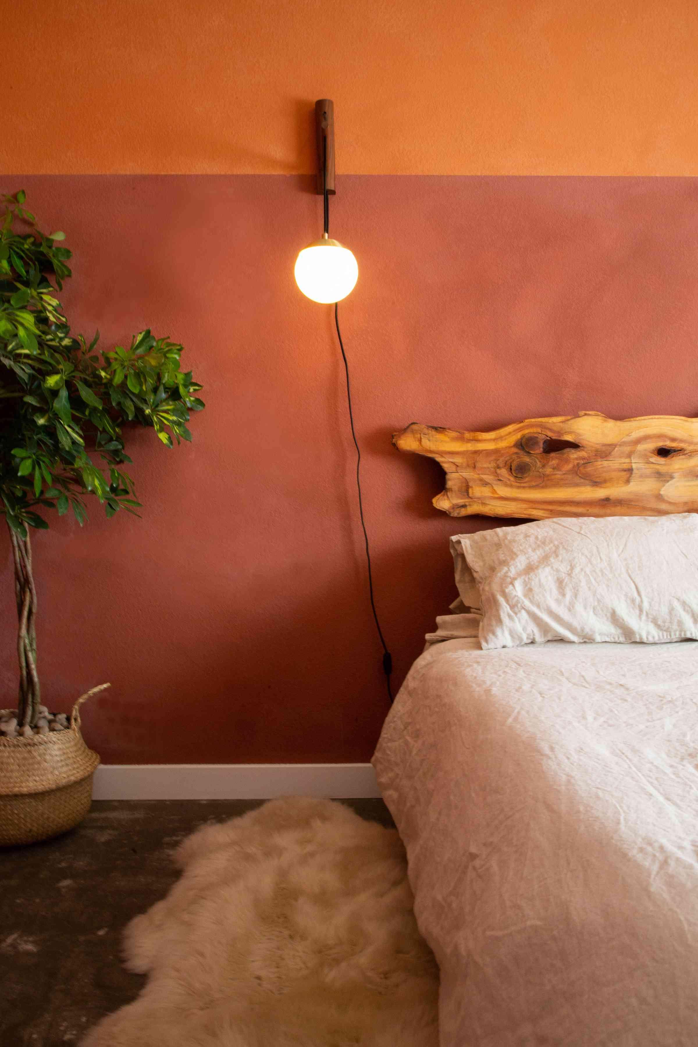Warm textured walls.