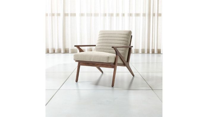 Crate and Barrel Cavett Channel Chair