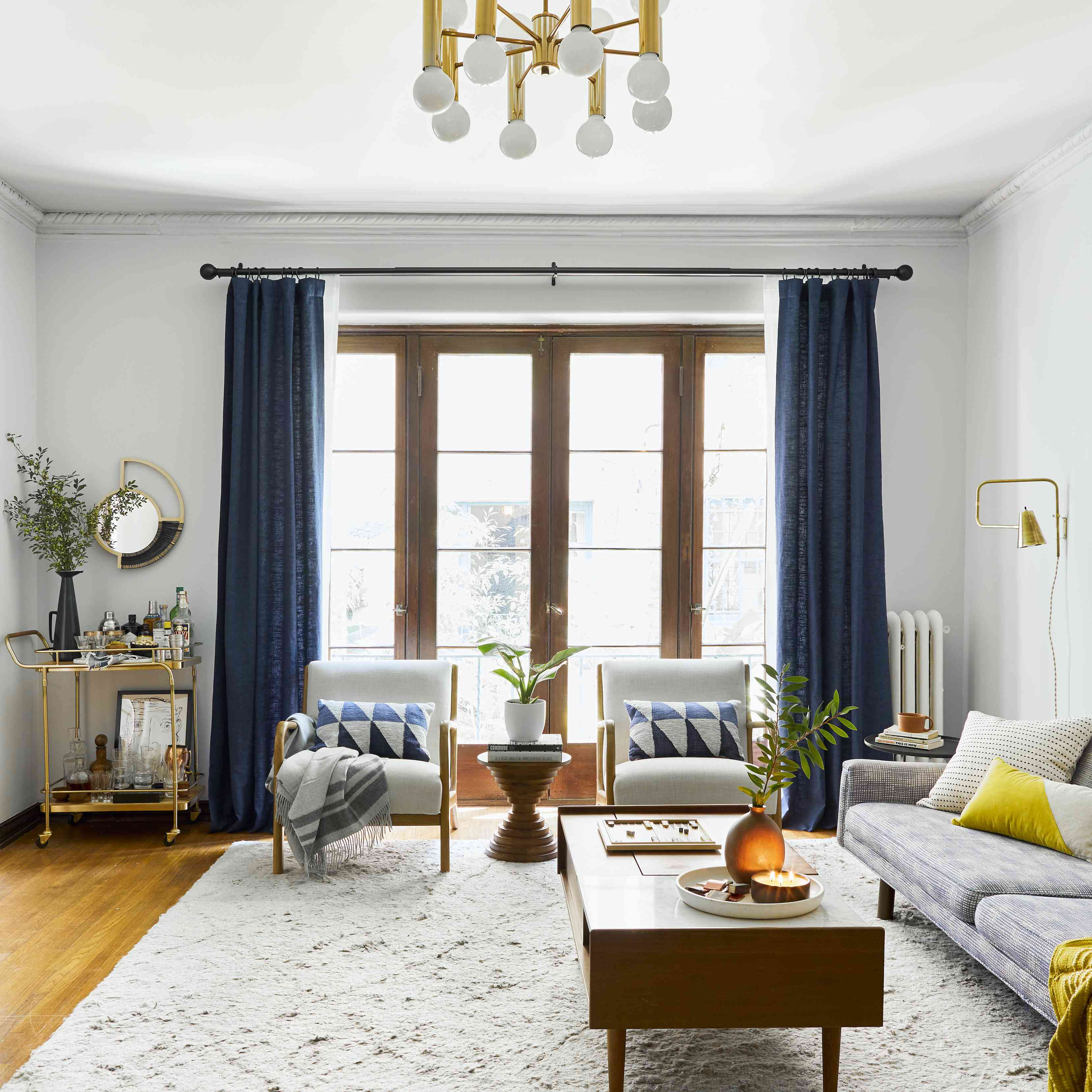 Living room with disguised radiator