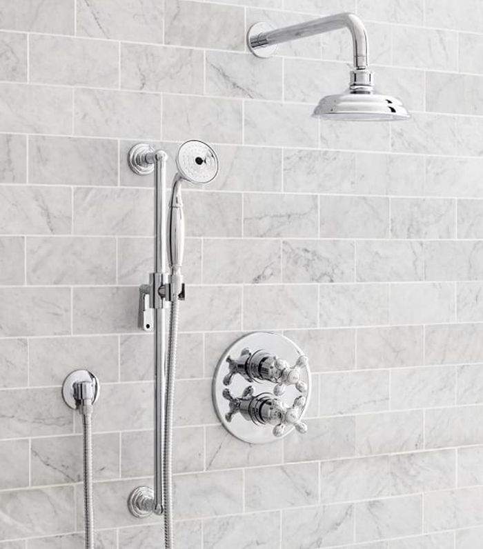 Langford Thermostatic Cross-Handle Shower