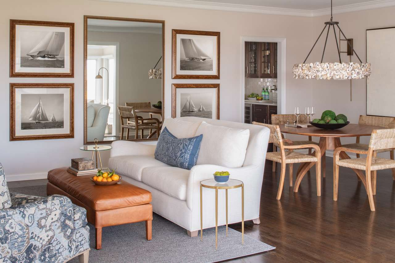 Liz Mearns home tour - living and dining area