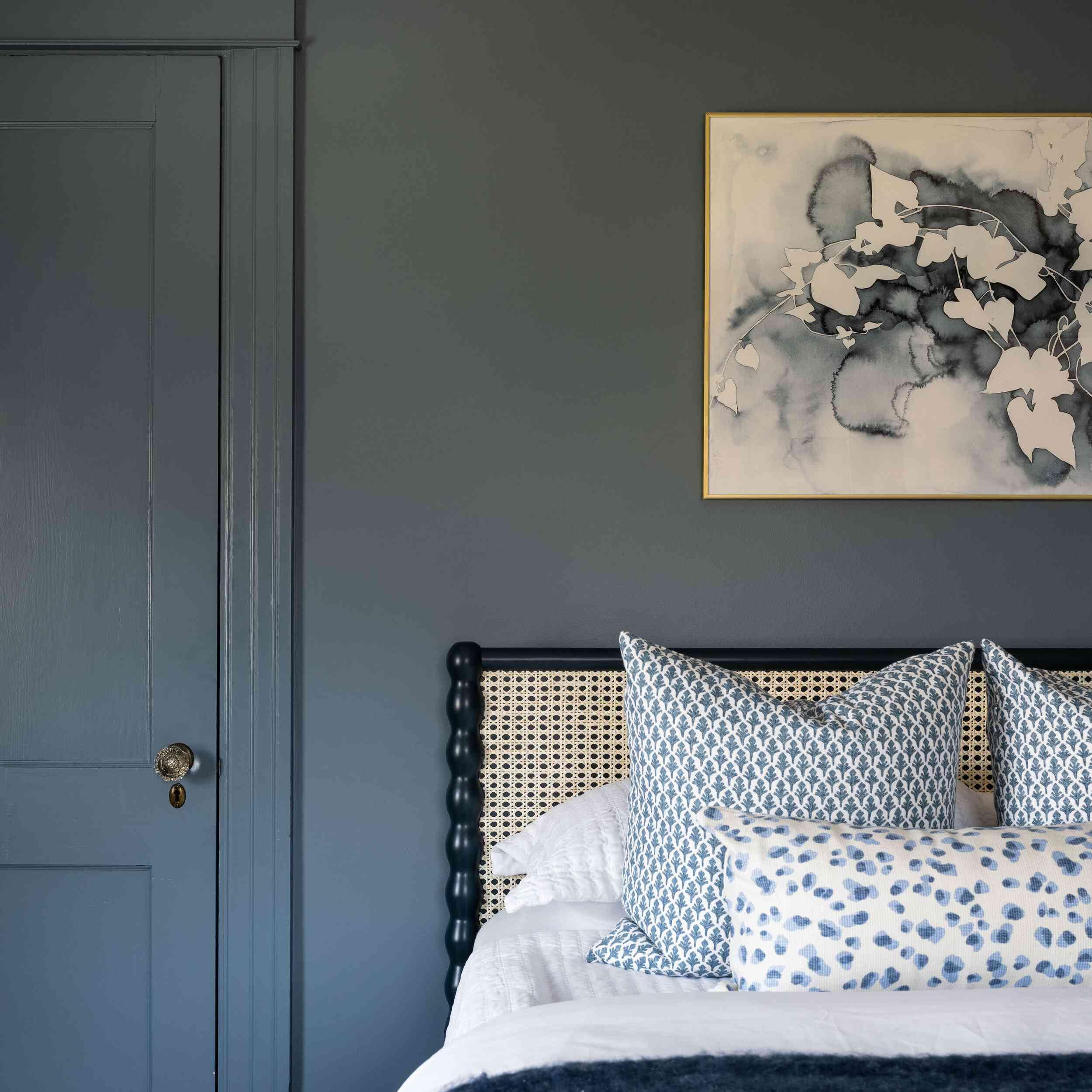 All blue bedroom
