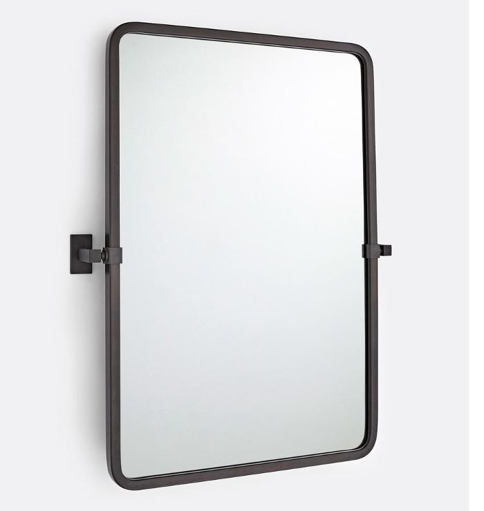 Rejuvenation Yaquina Rounded Rectangle Pivot Mirror
