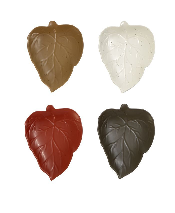 Threshold Leaf Appetizer Plates Set of 4