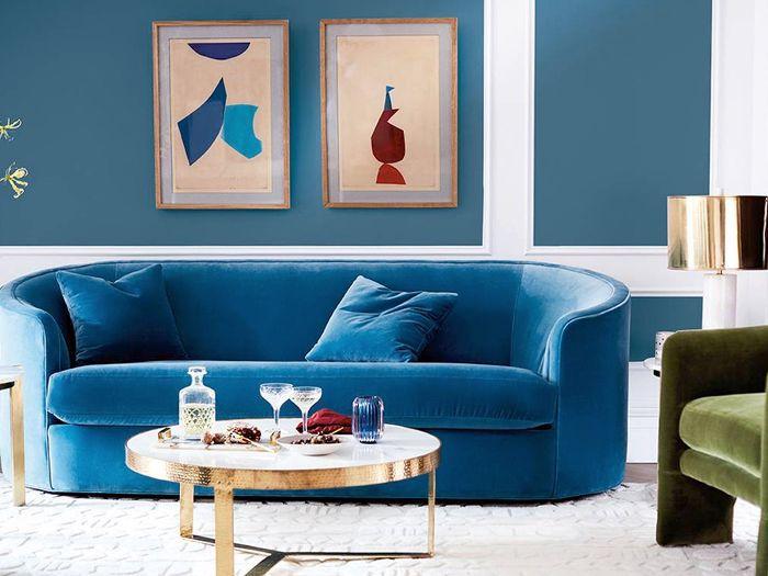 Blue Velvet Sofas