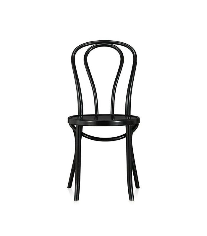 Crate and Barrel Vienna - Silla de comedor de madera negra