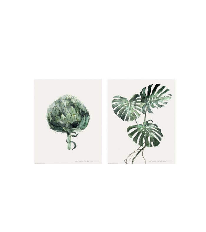 IKEA Tvilling Poster, Set of 2, Green Leaves