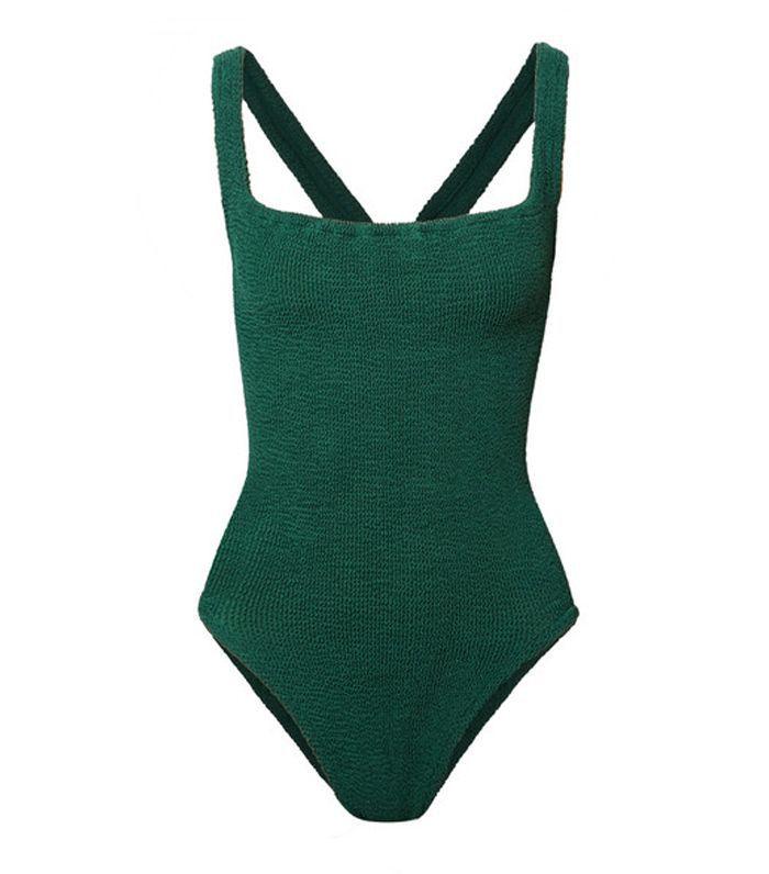 Zora Embellished Seersucker Swimsuit
