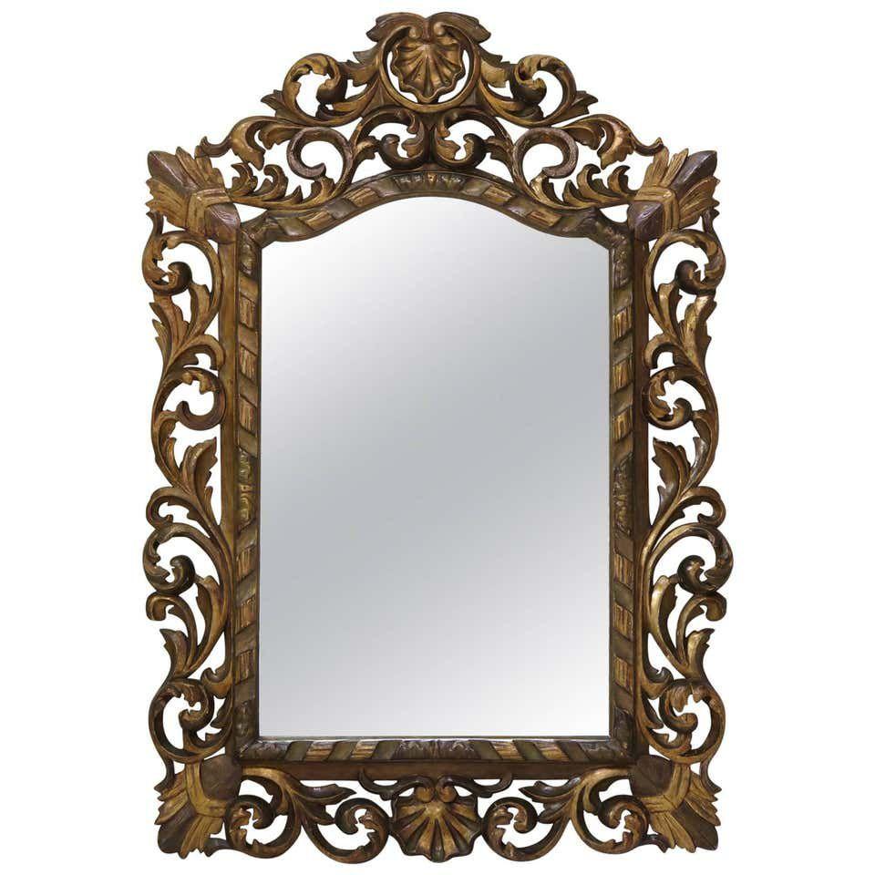 1st Dibs Gran espejo esculpido barroco francés del siglo XIX