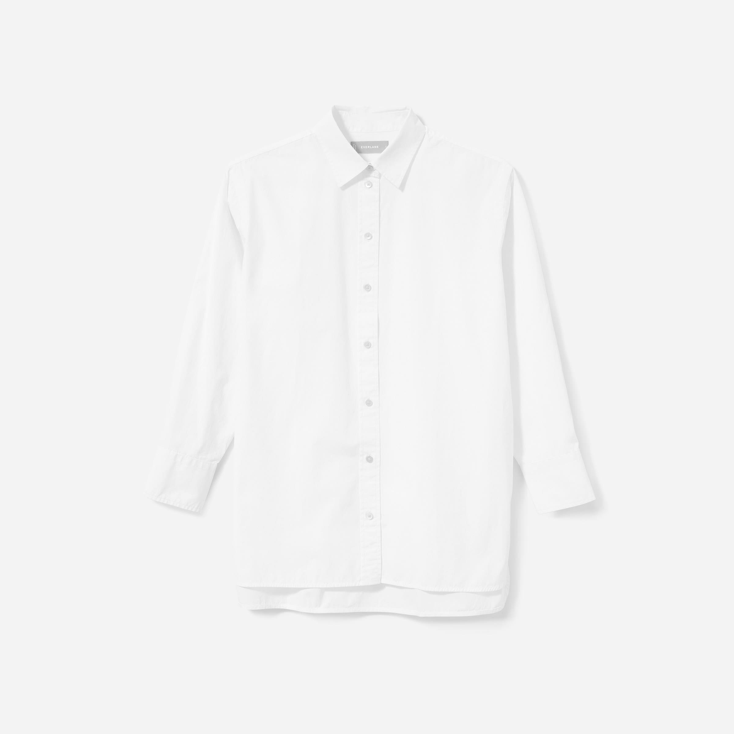 everlane poplin oversized shirt
