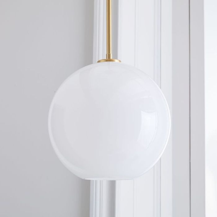 West Elm Sculptural Glass Globe Pendant