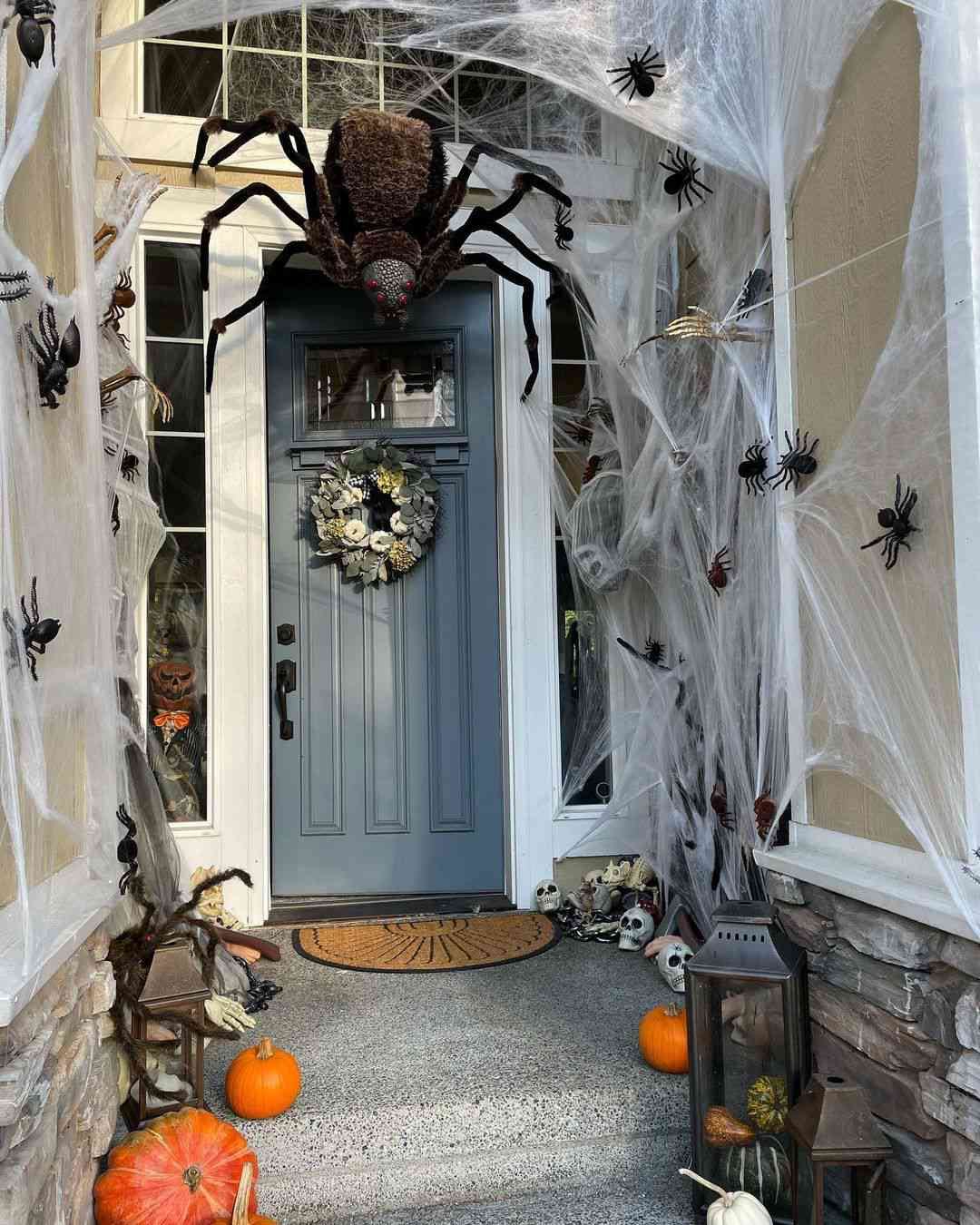 House with large spider