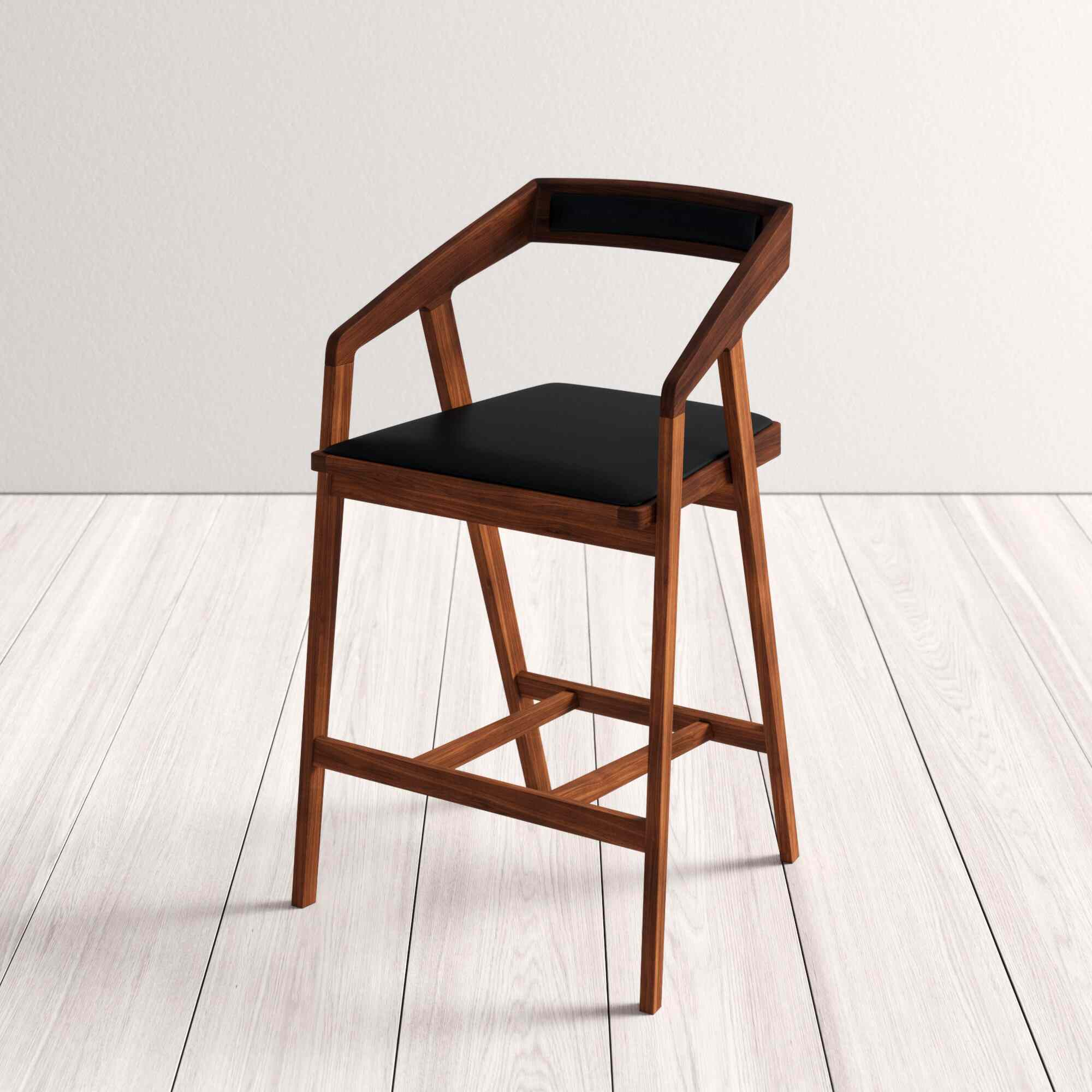 Black and brown barstool chair