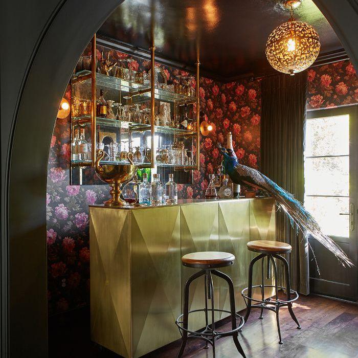 Shay Mitchell—home bar