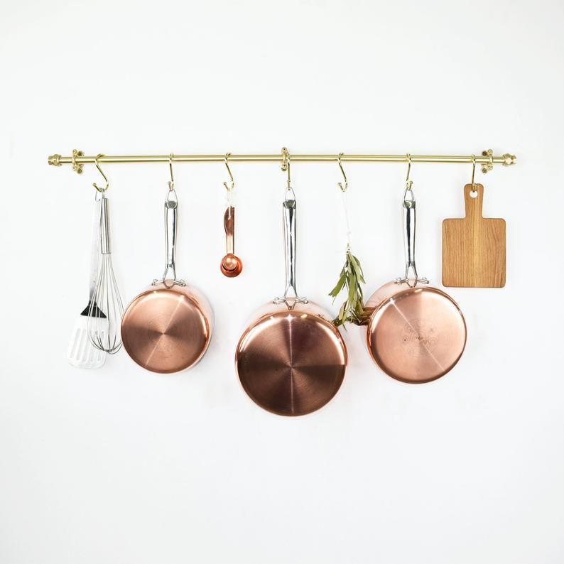 brass kitchen rail