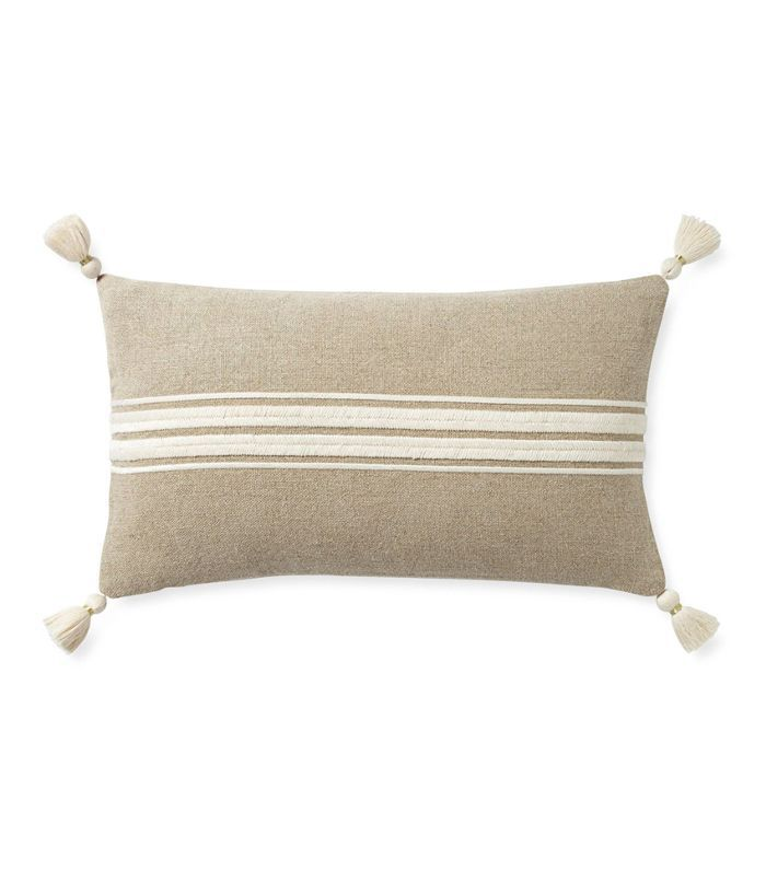 Serena & Lily Addie Stripe Tassel Pillow Cover