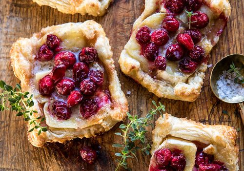 Cranberry Brie Pastry Tarts
