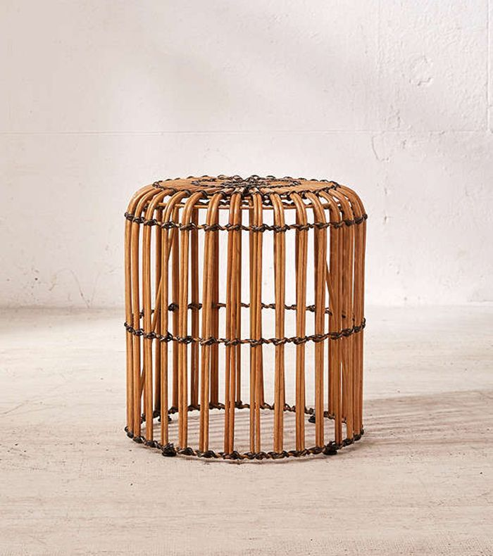 Urban Outfitters Ryla Rattan Stool