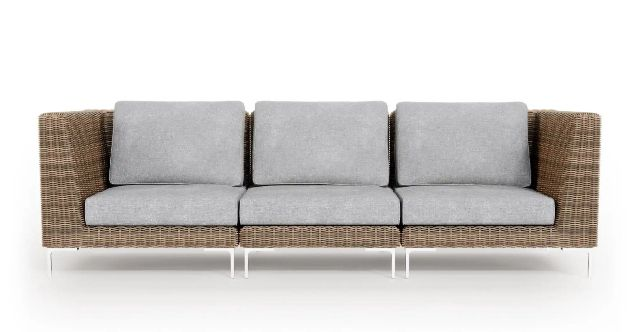 Outer Wicker Outdoor 3-Seat Sofa