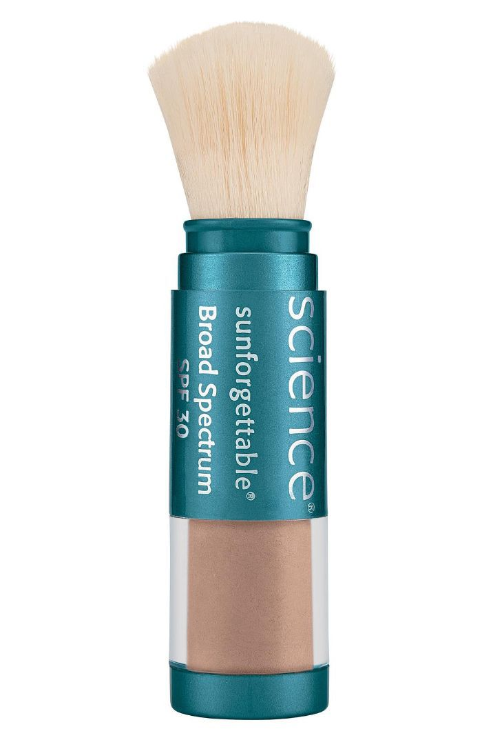 Colorescience Sunforgettable Brush-On Sunscreen SPF 30 combination skincare routine
