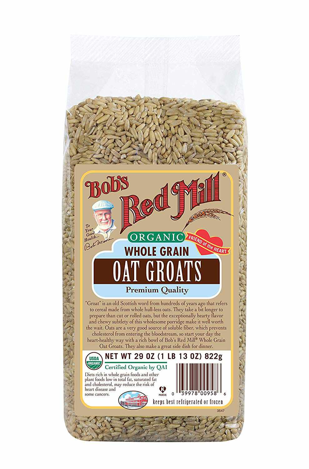 Organic Whole Grain Oat Groats