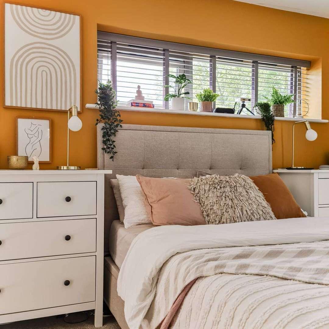 Boho golden bedroom