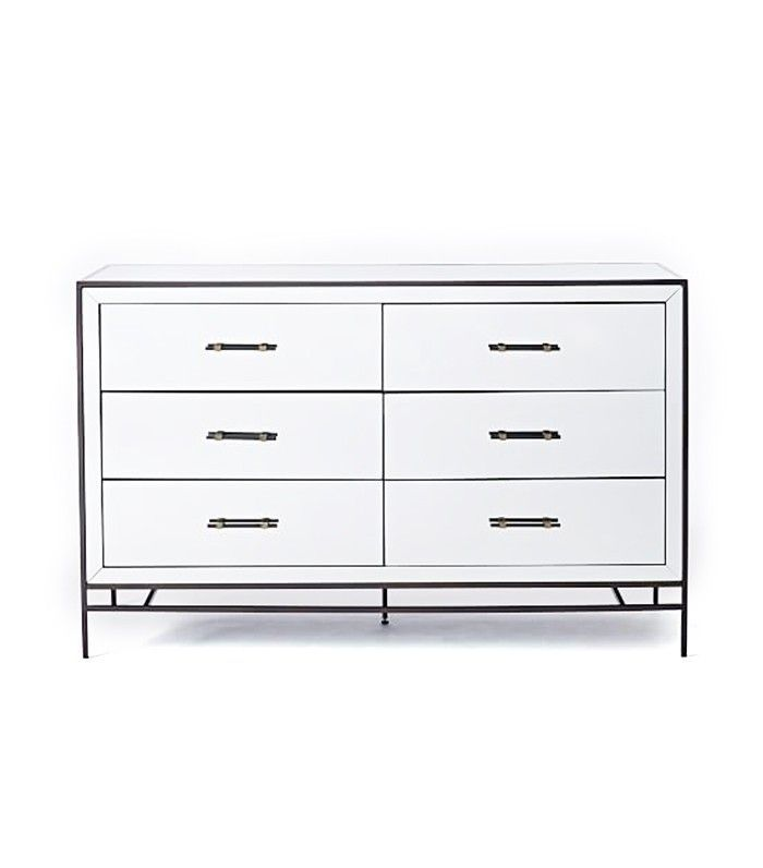 Mirrored Storage 3 Drawer Dresser