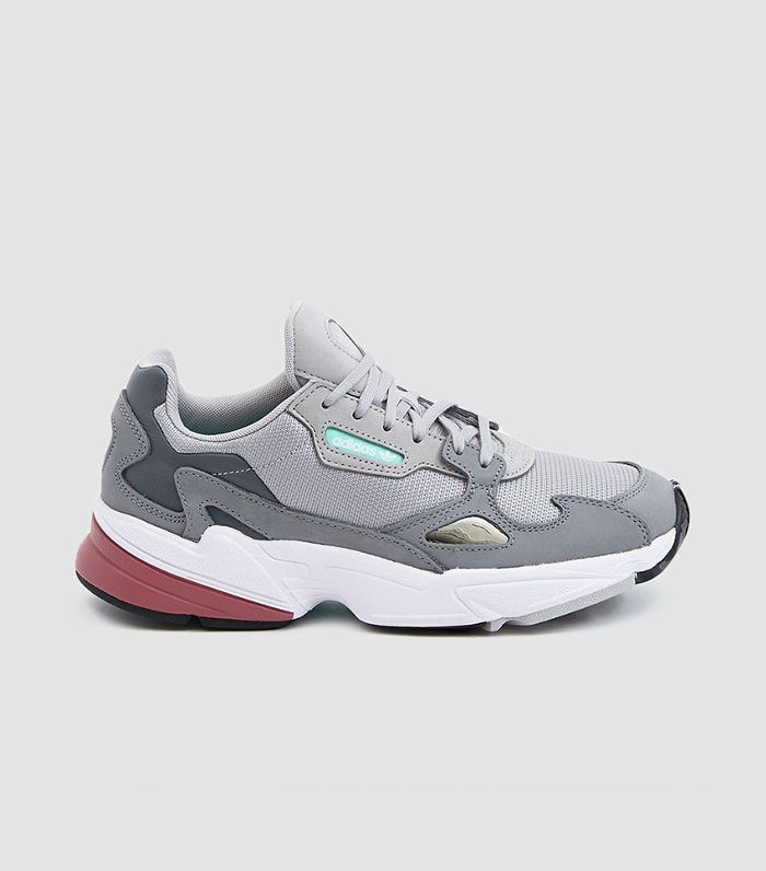 Adidas Falcon W Sneakers in Grey Two/Trace Maroon