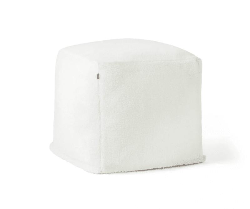 Sherpa Ottoman Cream
