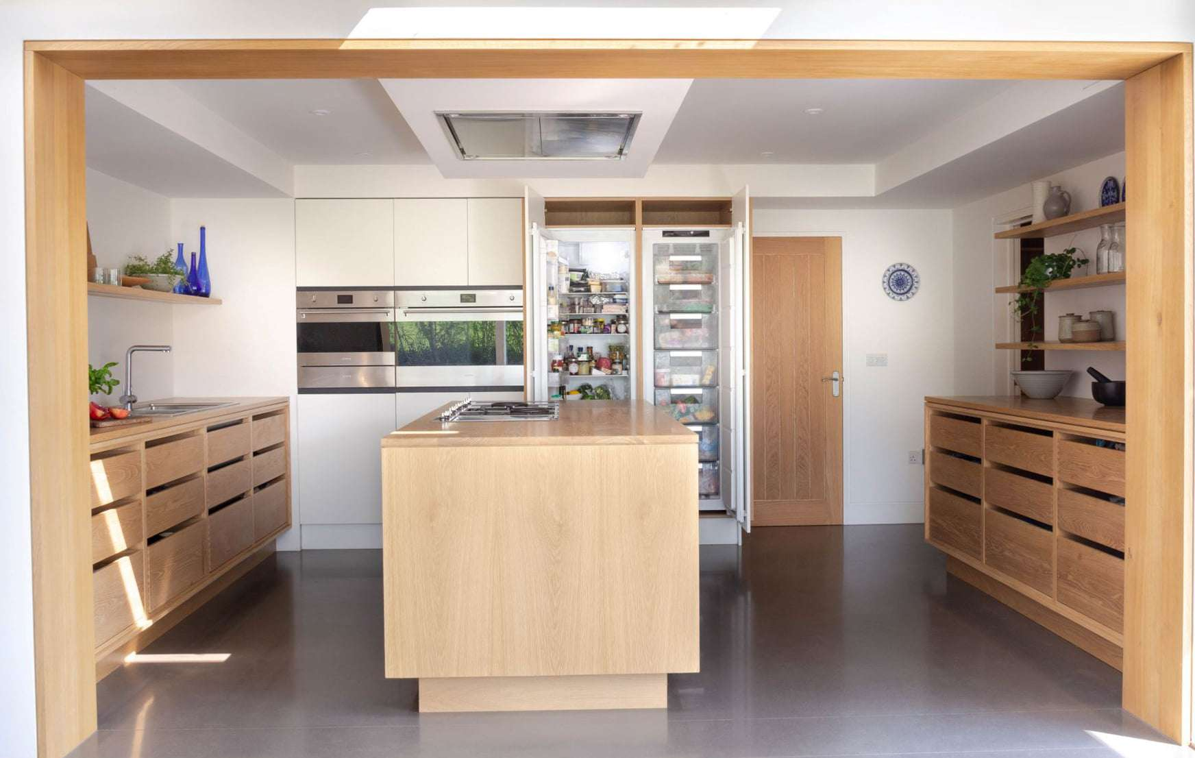 concrete floor in kitchen