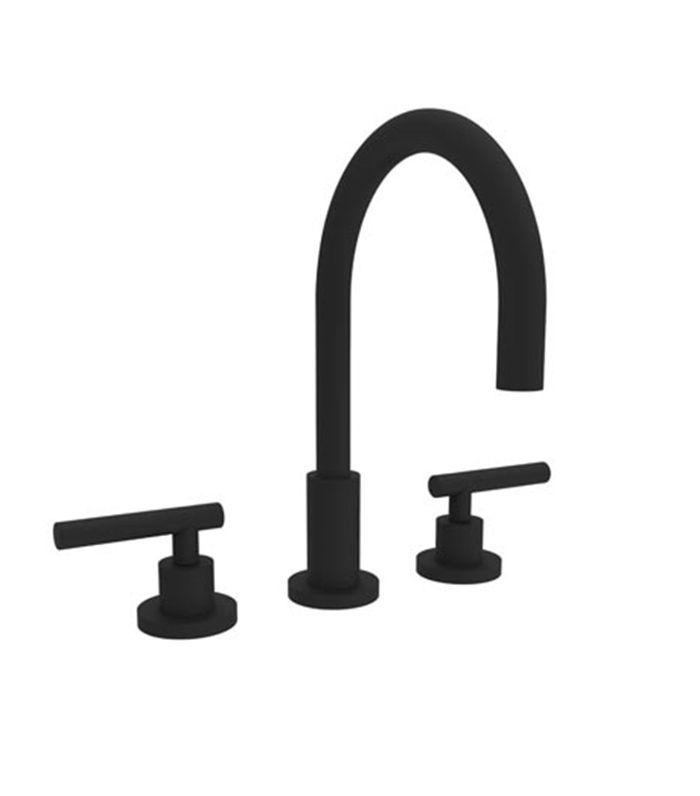 Newport Brass Widespread Lavatory Faucet in Flat Black