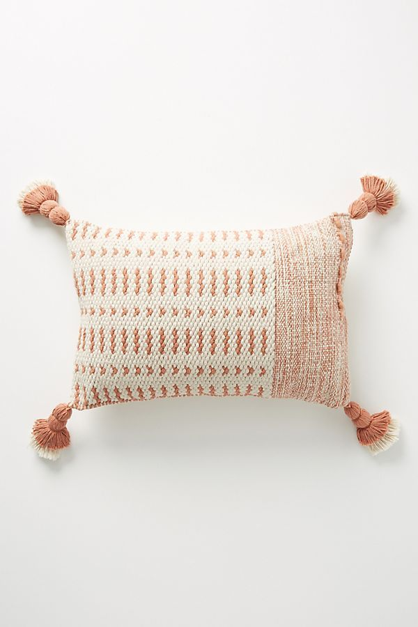 Joanna Gaines for Anthropologie Tasseled Olive Pillow in Blush