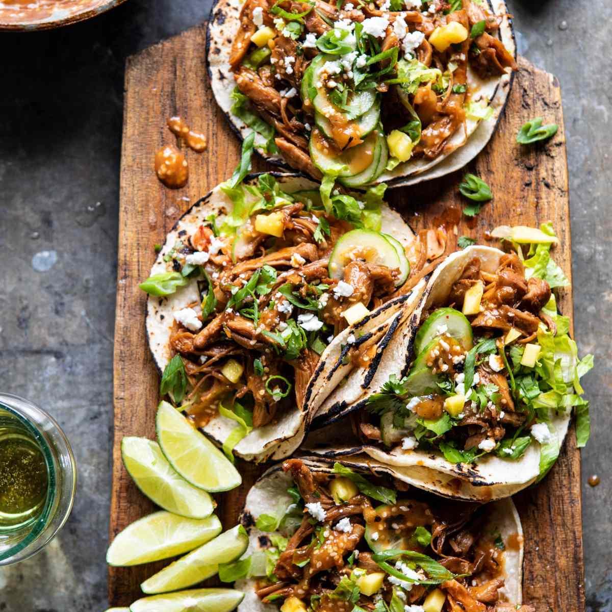 Tacos de barbacoa de Bulgogi coreano instantáneo