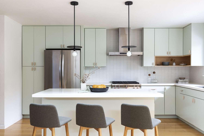 green simple kitchen design