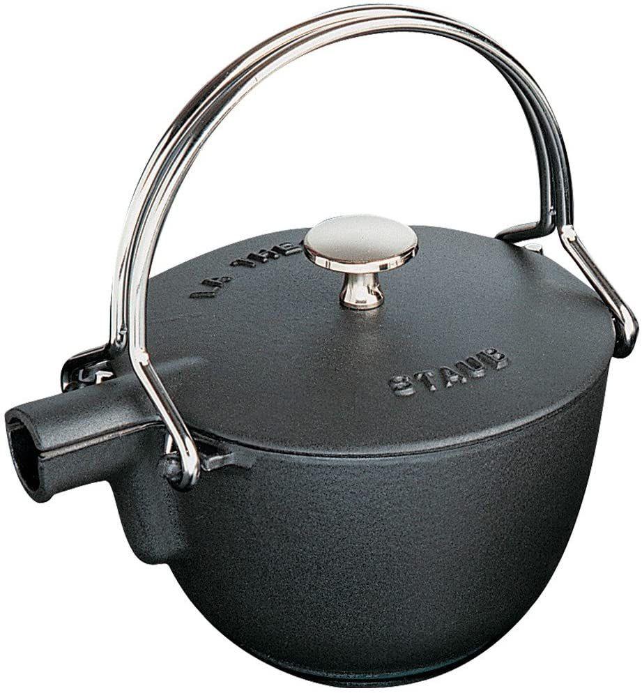 Staub Enameled Cast Iron Round Tea Kettle