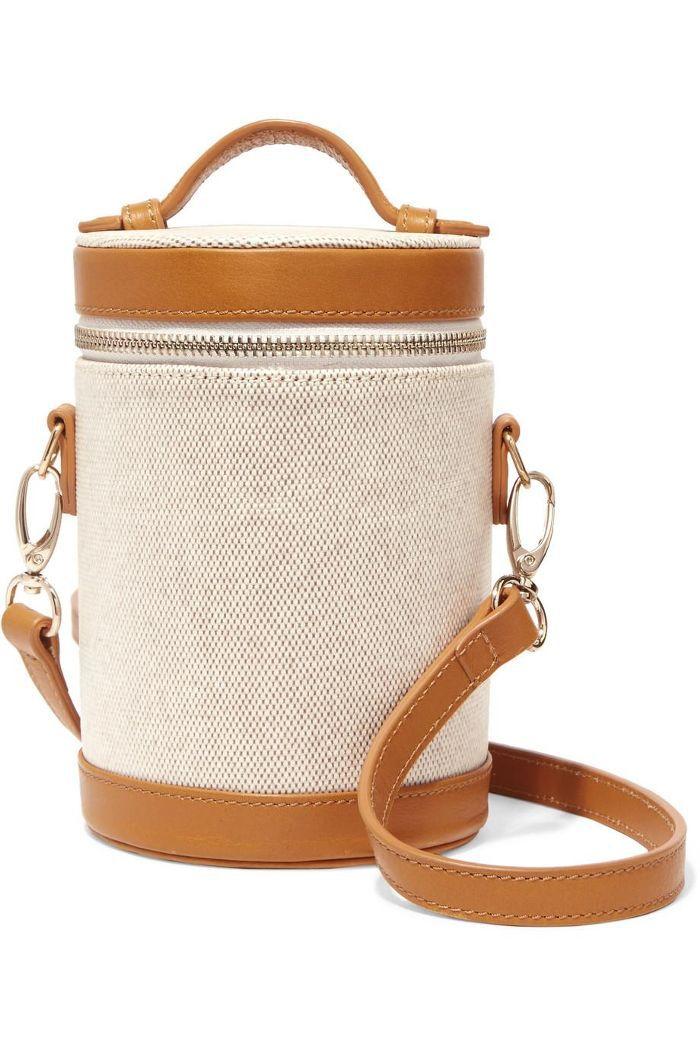 Crossbody Capsule Leather-trimmed Canvas Shoulder Bag