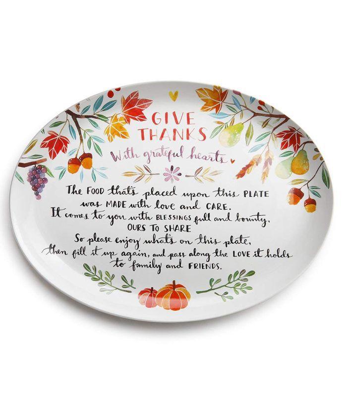 Demdaco Ceramic Giving Platter Amazon Thanksgiving Decor