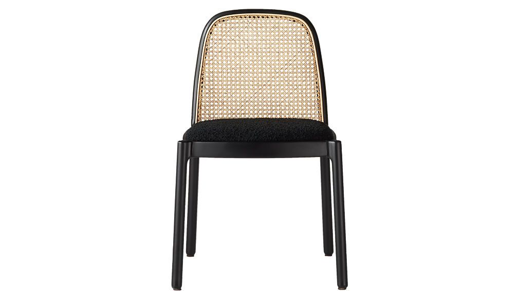 Nadia Black and Cane Chair
